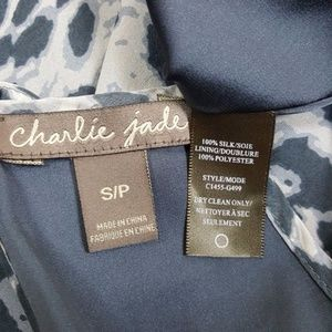 charlie jade Dresses - 100% SILK Charlie Jade  Dress Small Gray EUC